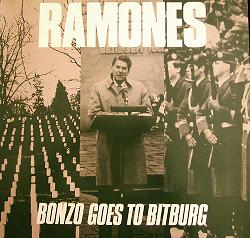 The cover of a punk take on Reagan's famous visit to a cemetery holding SS graves