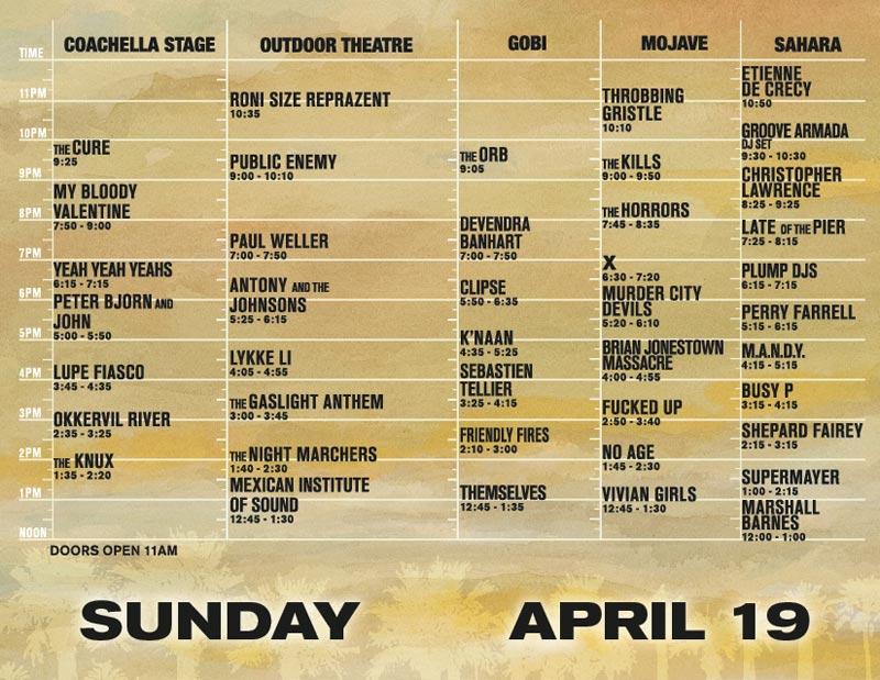 coachellasun1 Coachella offers up 09 schedule