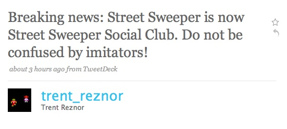 street1 Street Sweeper changes name to Street Sweeper Social Club
