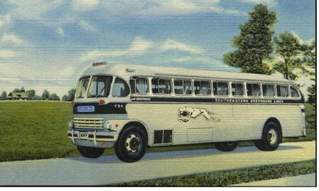 vintage greyhound bus 001 Rock History 101: Simon and Garfunkels America