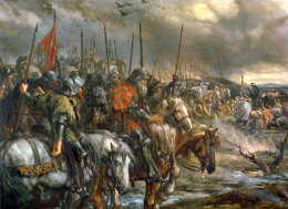 """20090625032934morning of the battle of agincourt 25th october 14151 260x189 Rock History 101: Billy Bragg   """"St. Swithin's Day"""""""