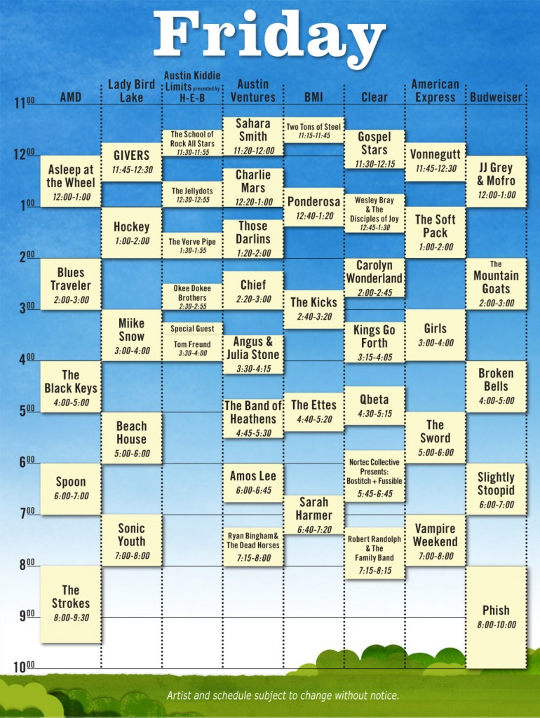 friday 770x1024 Austin City Limits reveals 2010 schedule