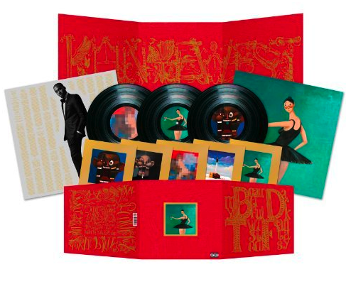 mbdtf vinyl A silent Kanye West = leaked tracks, cologne, iTunes feud, and a $100,000 concert