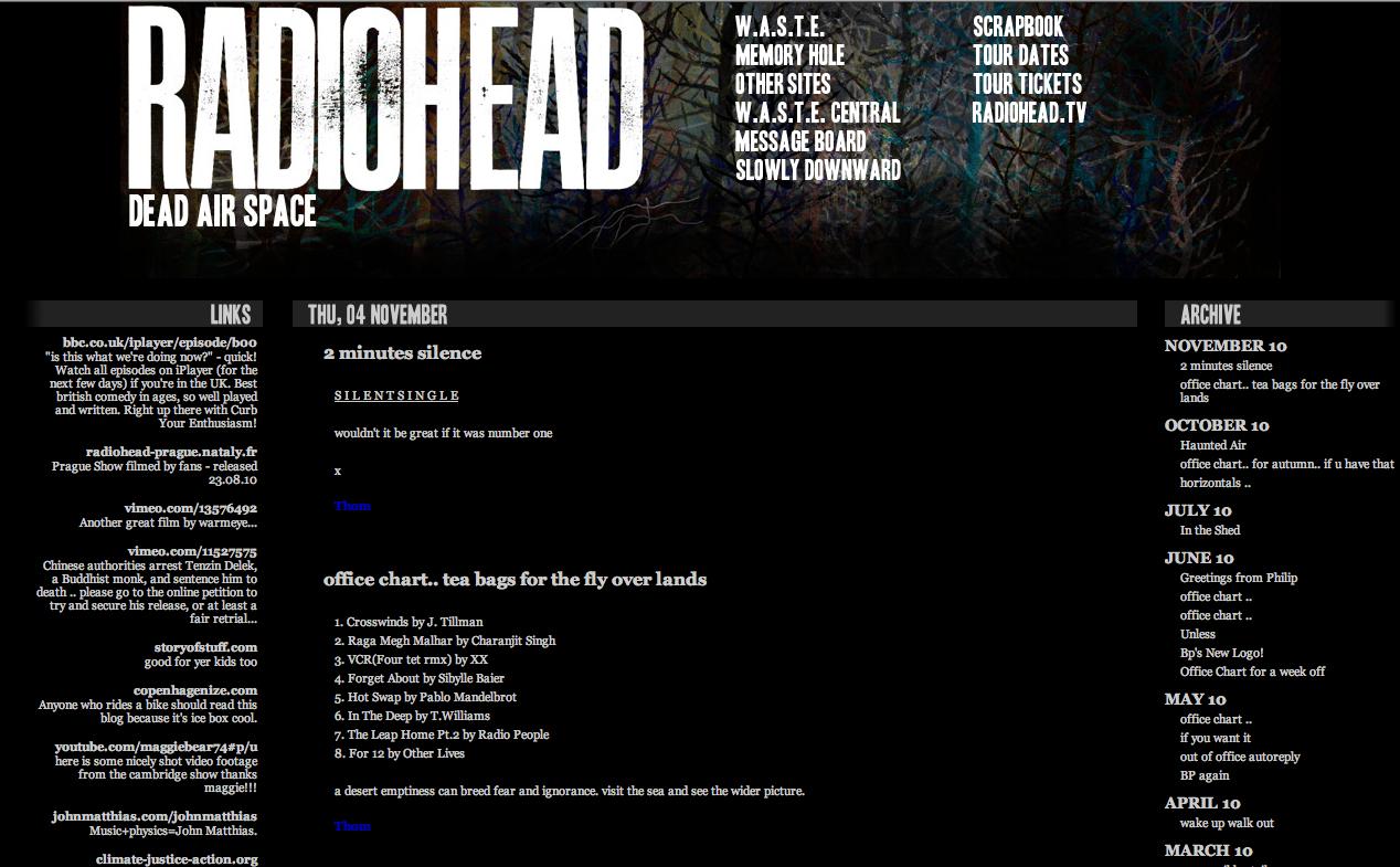 radiohead new website So what do we make of Radioheads new website?