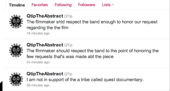 q tip twitter Watch: The unauthorized trailer for A Tribe Called Quests new documentary