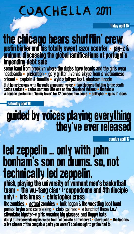 coachella 2011 fake 11 Coachella 2011's best fake lineups