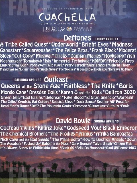 coachella fake 12 Coachella 2011's best fake lineups