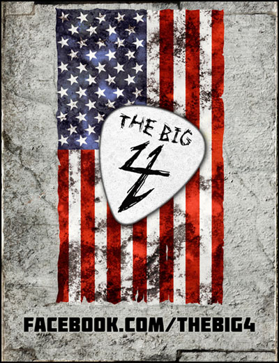metal big 4 2011 tour The Big Four announce massive U.S. show at Coachella site