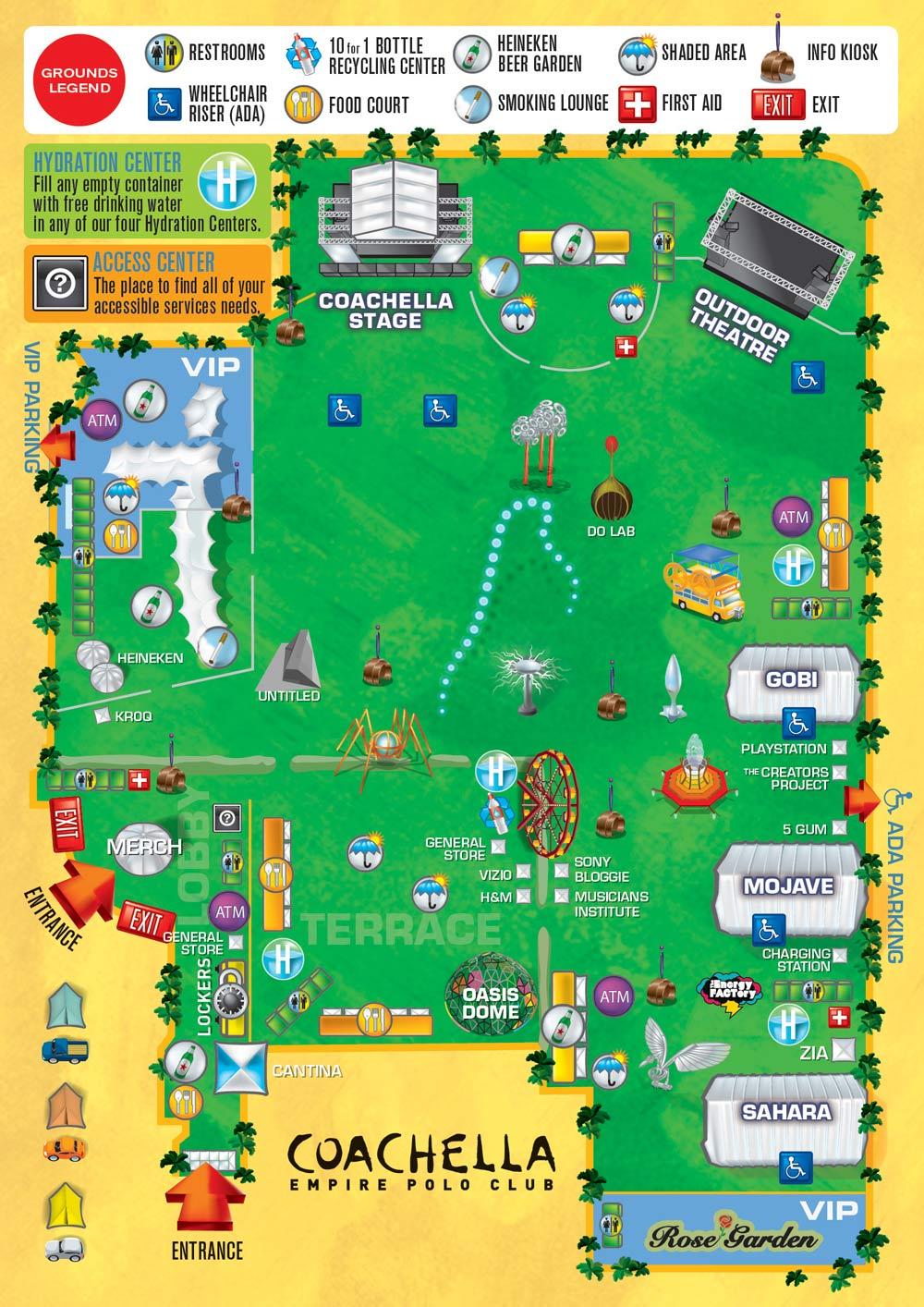 coachella map Coachella reveals 2011 schedule