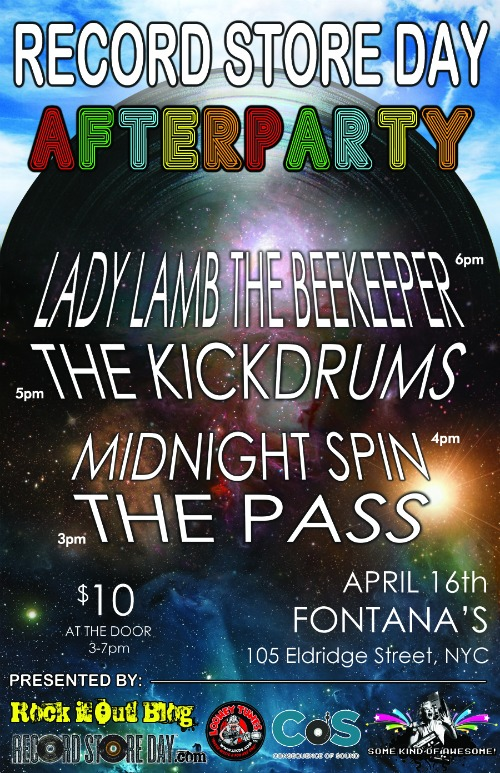 record store day poster CoS presents NYCs Official Record Store Day Afterparty w/ Lady Lamb the Beekeeper!
