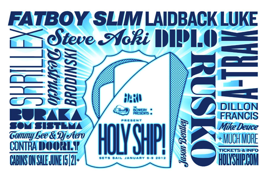 holy ship1 Fatboy Slim, Tommy Lee, Diplo head inaugural Holy Ship! cruise