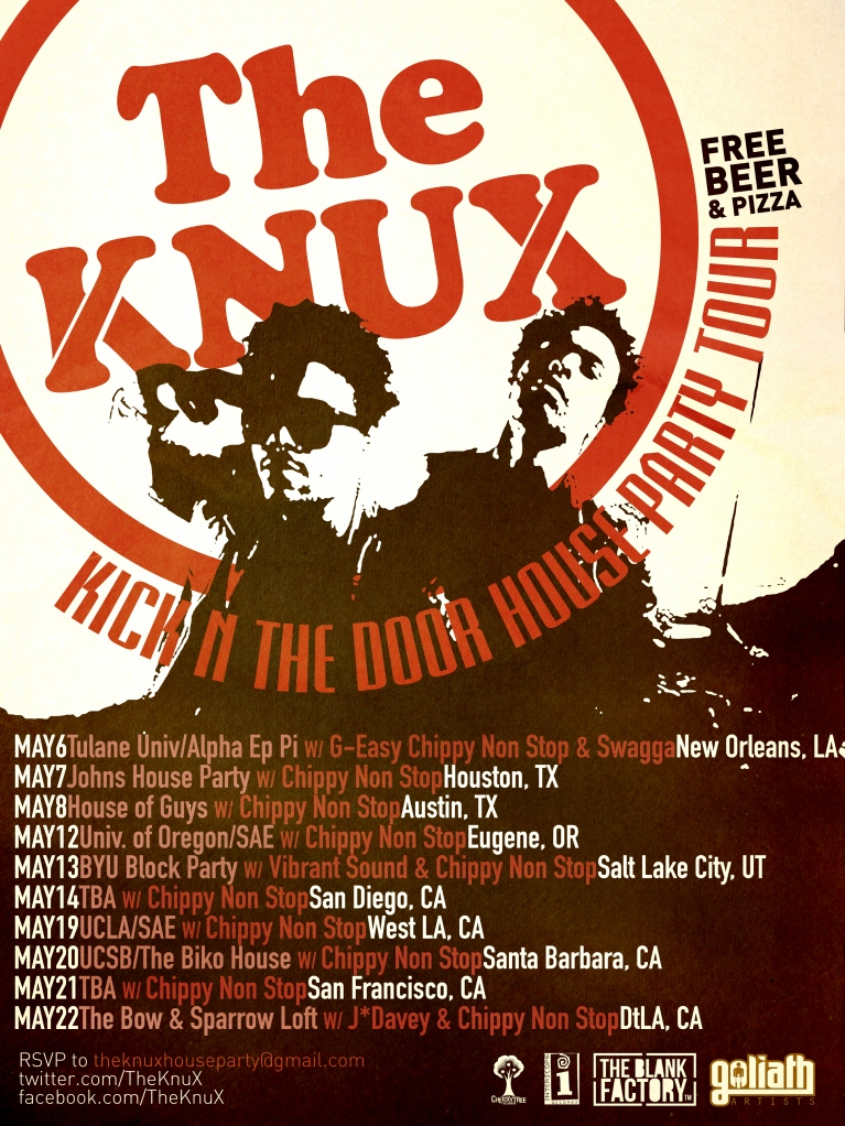 knux poster final final The Knux announce dates for house party tour