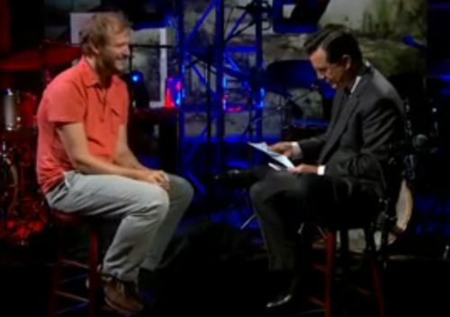 bon iver colbert1 Video: Bon Iver stops by The Colbert Report