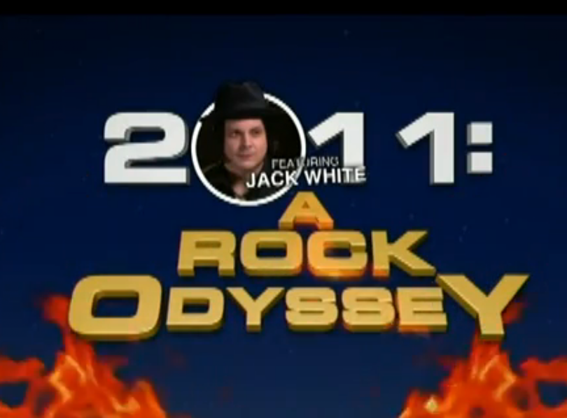 colbert jack white Video: Stephen Colberts 2011: A Rock Odessey featuring Jack White, pt. 1
