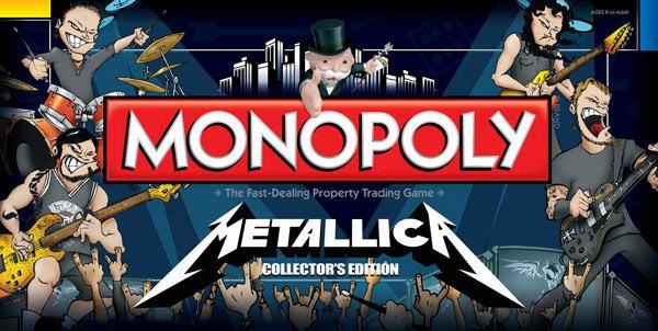 metallica monopolybigpic Metallica now have their own Monopoly game