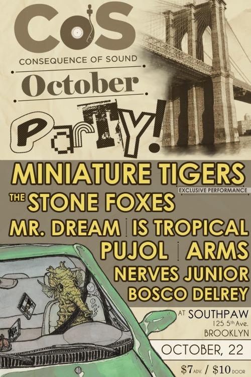 cmj 11 flier 2 CoS presents an October Party