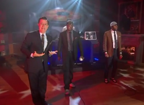 "colbert black star Video: Black Star debuts ""Fix Up"" on The Colbert Report"