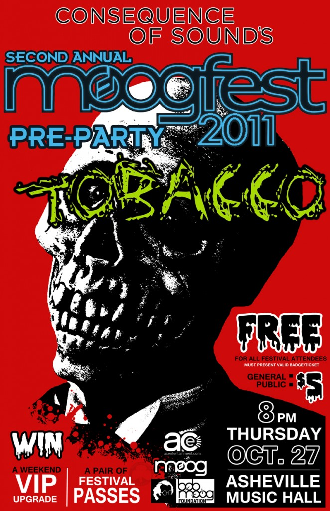 moogparty 11 websized v2 1 662x1024 CoS presents 2nd Annual Official Moogfest Pre Party feat. Tobacco