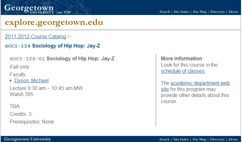 soci 124 sociology of hip hop jay z 2011 2012 course catalog georgetown university Georgetown University offers class on all things Jay Z