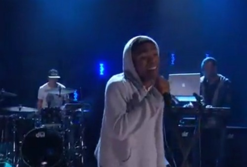 "gambinoconan Video: Childish Gambino brings ""Heartbeat"" to Conan"