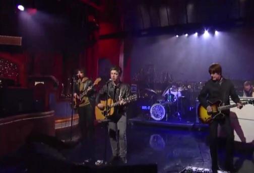 nglettermanpic Video: Noel Gallagher's High Flying Birds soar on Letterman