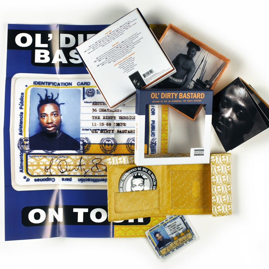 odb goods 1024x1024 Whats in the Box!?: Ol Dirty Bastard   Return to the 36 Chambers: The Dirty Version Wallet Box