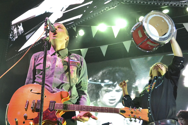 arcadefire laurenguagno Watch Arcade Fire perform a new song called Crucified Again