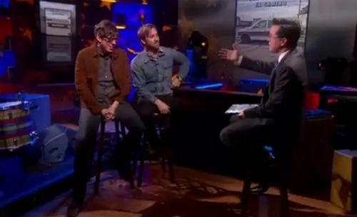 blackkeyscolbert1 Video: The Black Keys visit The Colbert Report
