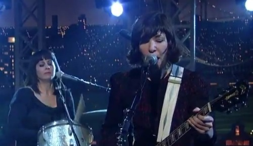 wildflagletterman Video: Wild Flag finds Romance on Letterman