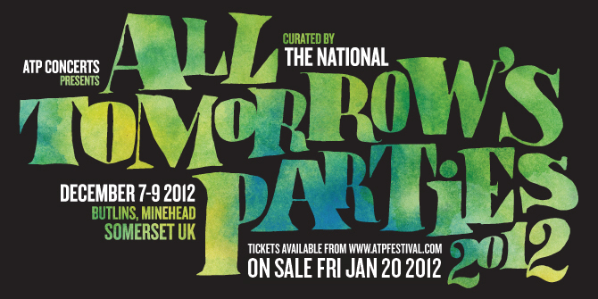 atp the national The National to curate All Tomorrows Parties Festival