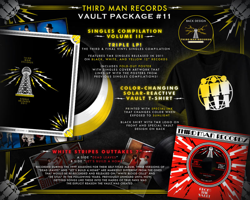 tmrvault11800 Third Man Records reveals first 2012 vault package, includes rare White Stripes outtakes