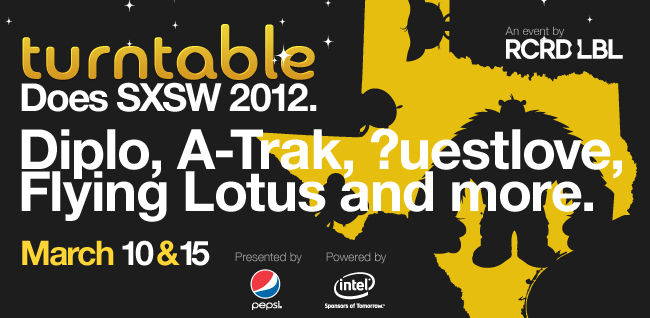 blog v1 intel pepsi Flying Lotus, ?uestlove, Diplo to play Turntable.fm parties at SXSW 2012