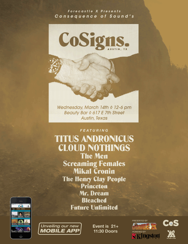 cosignsemailpress CoSigns 2012 full lineup revealed