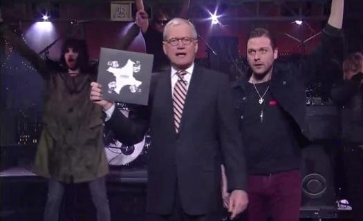 kasabian letterman Video: Kasabian hits Letterman