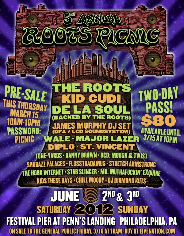roots picnic 2012 James Murphy, St. Vincent, Kid Cudi to play Roots Picnic 2012
