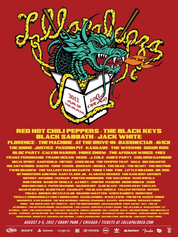 lollapalooza 2012 line up e1334168673139 Question of the Day: Your Favorite Big Four Lineup of 2012?