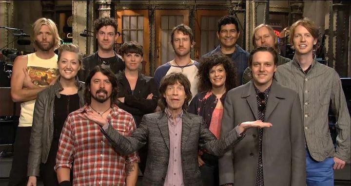 mick jagger arcade fire foo fighters Video: Saturday Night Live promo with Mick Jagger, Arcade Fire, Foo Fighters