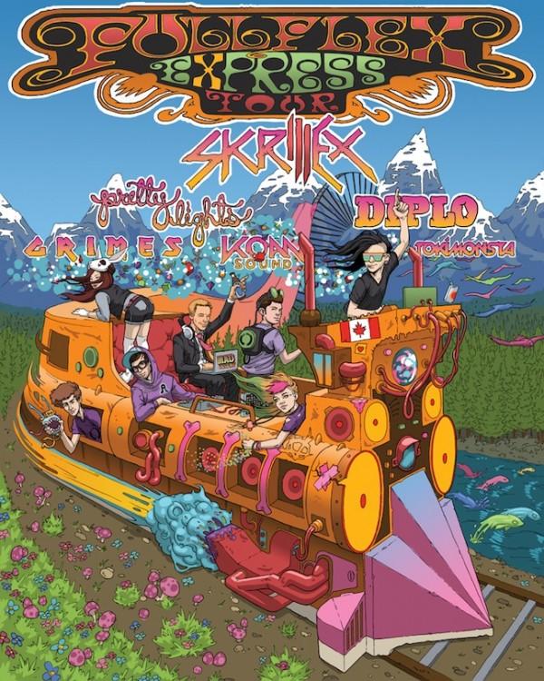 skrillex e1336485968214 Skrillex, Diplo, and Grimes announce Full Flex Express Tour