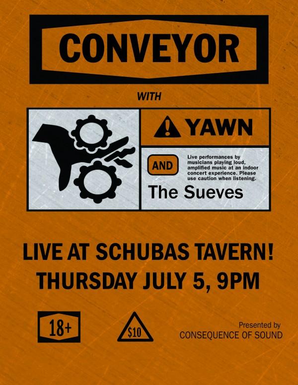 conveyor 01 e1339513603531 Consequence of Sound presents Conveyor at Chicagos Schubas on July 5th