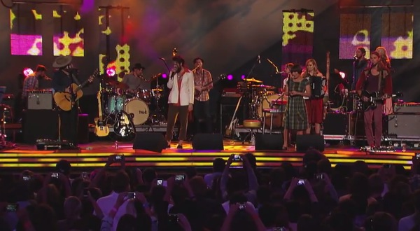 ed sharpe kimmel1 Video: Edward Sharpe and the Magnetic Zeros on Jimmy Kimmel Live!
