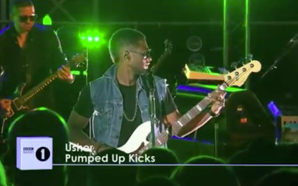 usher pumped up kicks Video: Usher covers Foster the Peoples Pumped Up Kicks