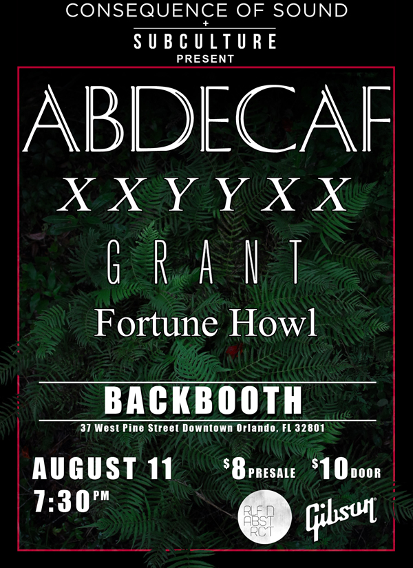 Consequence of Sound presents AbdeCaf in Orlando