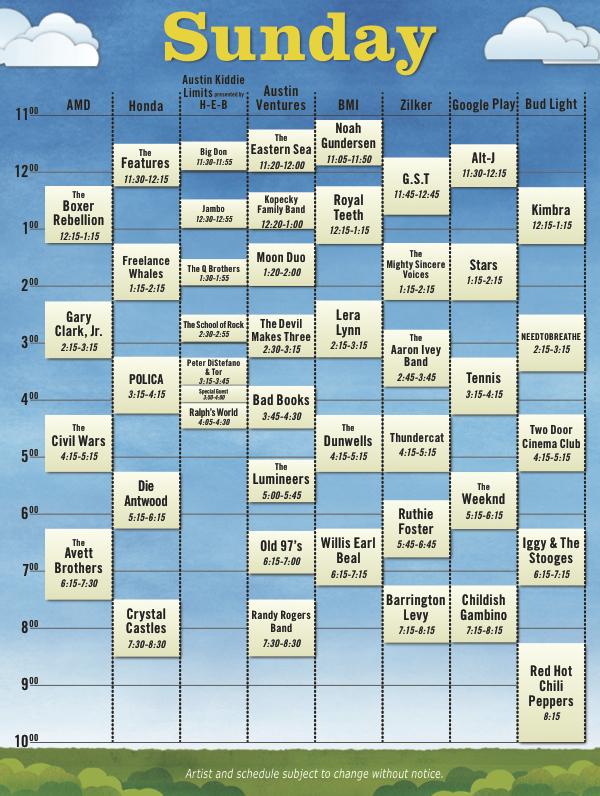 acl12 schedule sun Austin City Limits reveals 2012 schedule