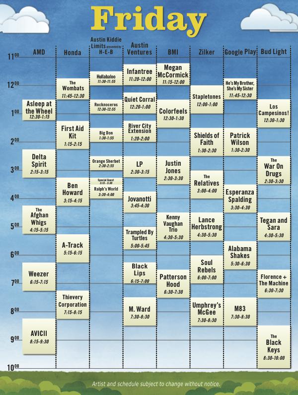 acl12 schedule Austin City Limits reveals 2012 schedule