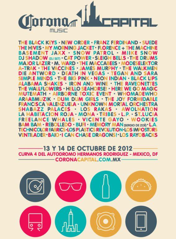 Corona Capital 2012 features The Black Keys, My Morning Jacket, New Order