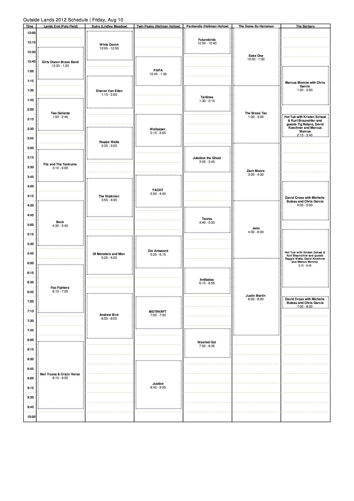 osl 2012 fri Outside Lands reveals 2012 schedule