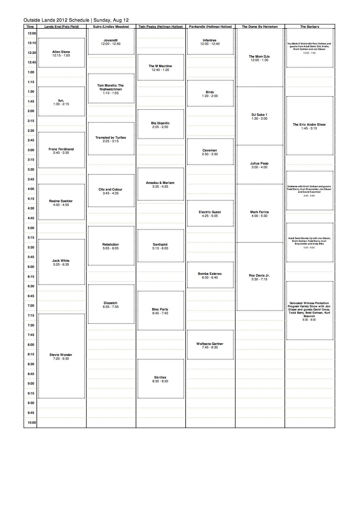 osl sun 2012 Outside Lands reveals 2012 schedule
