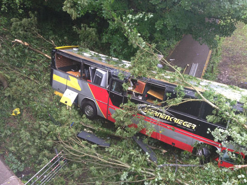 baronessbus Baroness involved in bus crash
