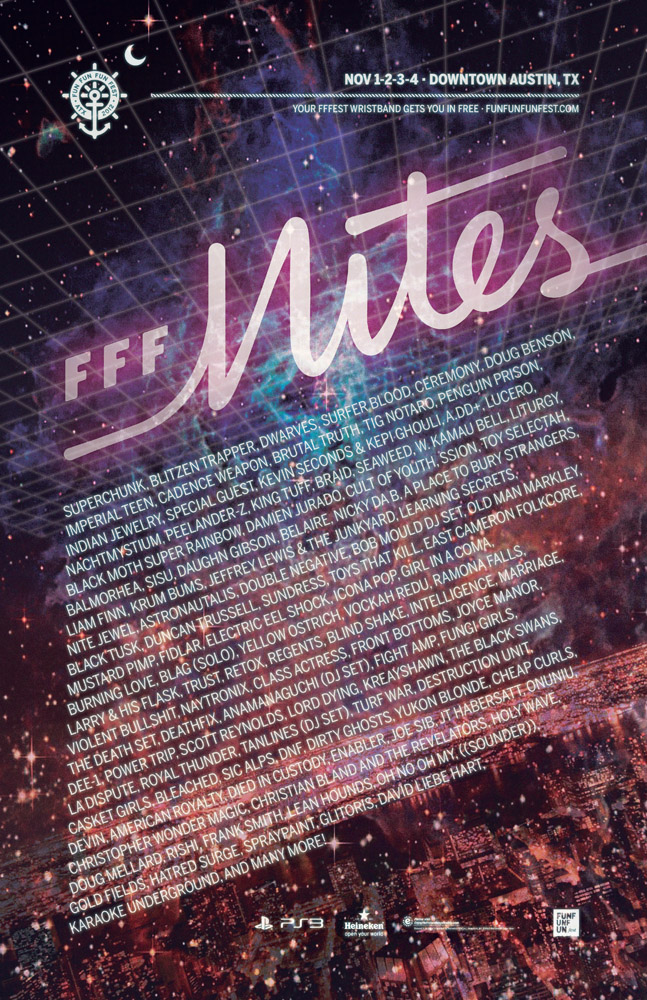fff nites poster 11x17 arists Fun Fun Fun Fest Nites lineup announced