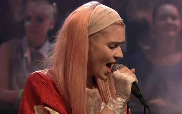 grimes fallon late night Watch Grimes perform new material